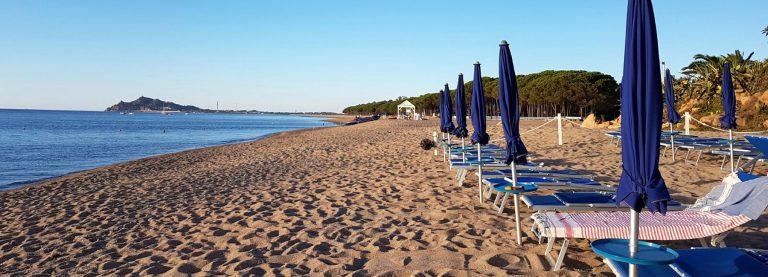 Spiaggia privata Hotel Mediterraneo
