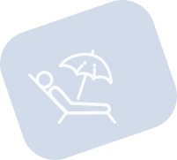 Service de plage Hotel Mediterraneo